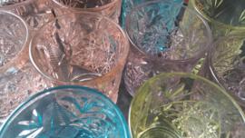 2 blauwe Hobstar Tumbler glazen