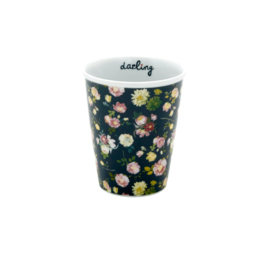 Rice porseleinen mok/ koffiebeker Dark Rose - Medium