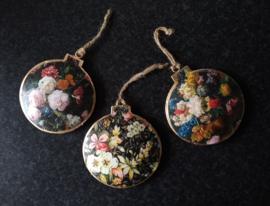 Xmas balls (flatt)-floral