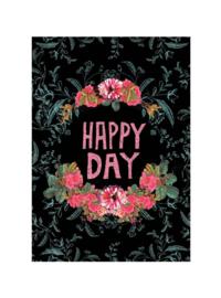 Klein kaartje Papaya Art Happy Day