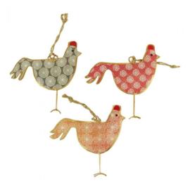 Kippen met hanger