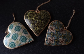 Indian hanging hearts-10 cm.