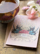 Kleine luxe verjaardagskaart Papaya Art-to you Bday Rose