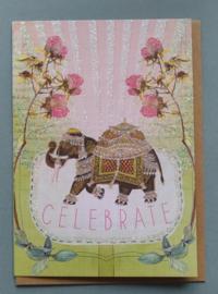 Luxe verjaardagskaart Olifant