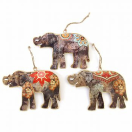 Set hangers Indiase olifanten S - Imbarro