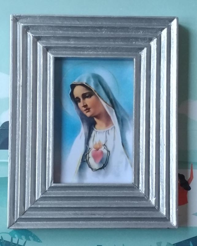 Maria in zilveren lijstje
