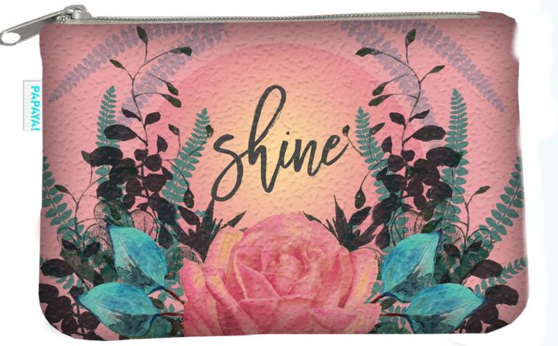 Klein portemonneetje Shine Papaya Art