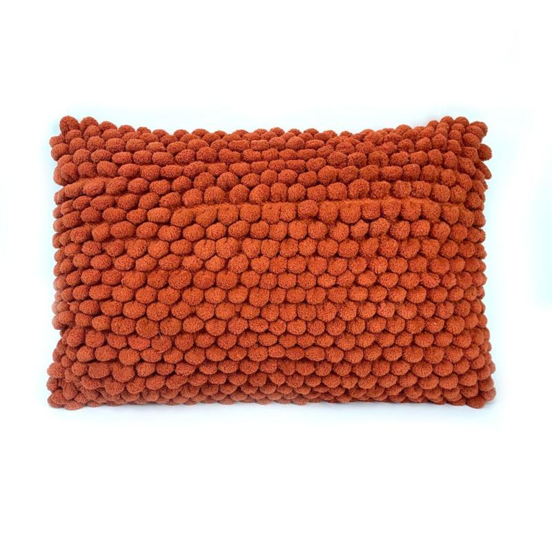 Oranje kussen Popcorn - Imbarro