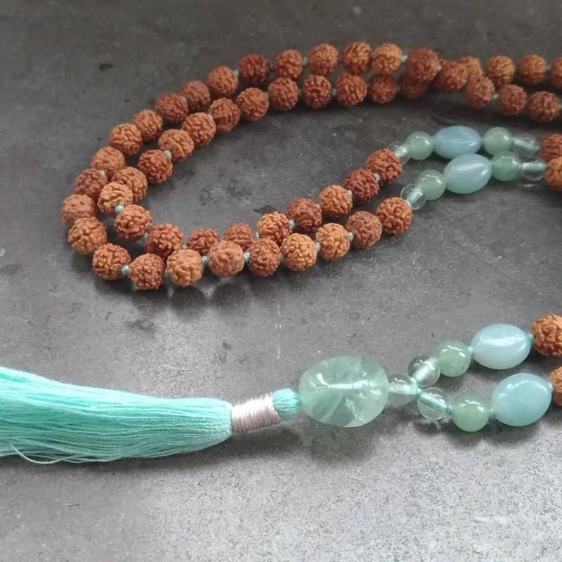 Mala met groene Aventurijn en Amazoniet Mala Spirit