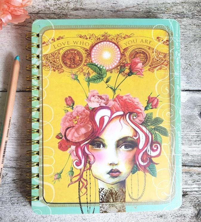 Notitieboek Rose Papaya Art