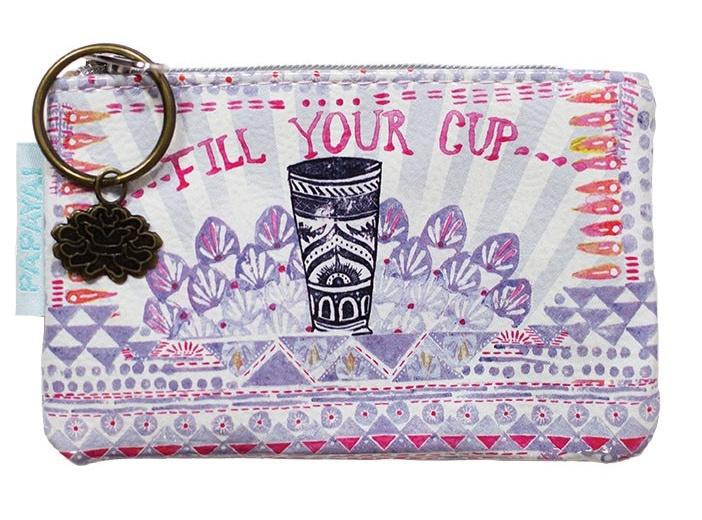Klein portemonneetje Fill your Cup Papaya Art