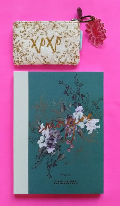 Cadeaupakketje notitieboekje en portemonneetje