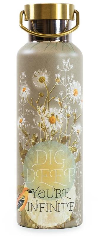 Drinkfles Papaya Art Dig Deep Daisy