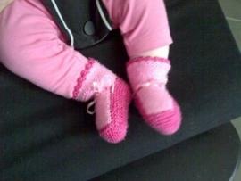 gebreide katoenen babysokjes
