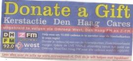 Opgeleukt.nl bij TV West (Youtube filmpje) Donate a Gift , December Kerstactie voor Voedselbank Haaglanden