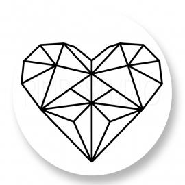 Sluitzegel Heart-Geo