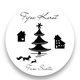 Sluitzegel - Fijne kerst met naam Nordic