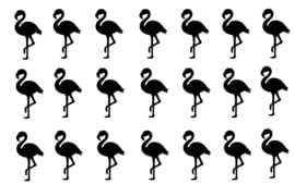 Traktatiestickers Flamingo