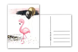 Verjaardagskaart Flamingo