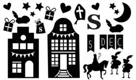 Decoratiestickers Sinterklaas