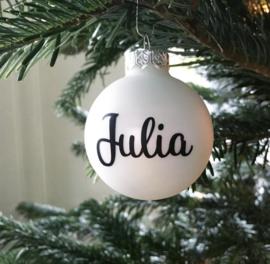 Naam voor op kerstbal