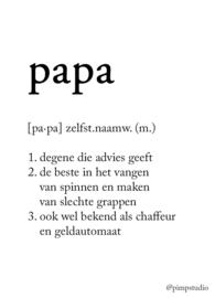 Vaderdag poster Papa