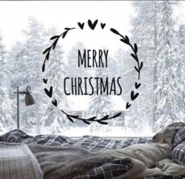 Raamstickers Merry Christmas