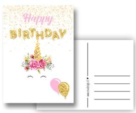 Verjaardagskaart Unicorn
