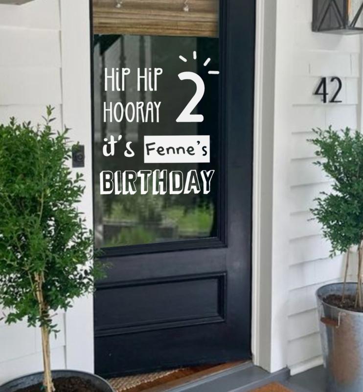 Raamsticker Verjaardag