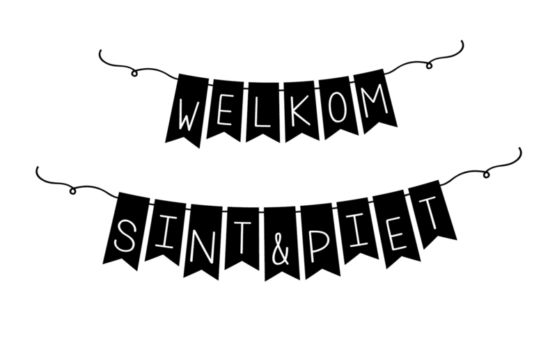 Raamsticker Welkom Sint en Piet