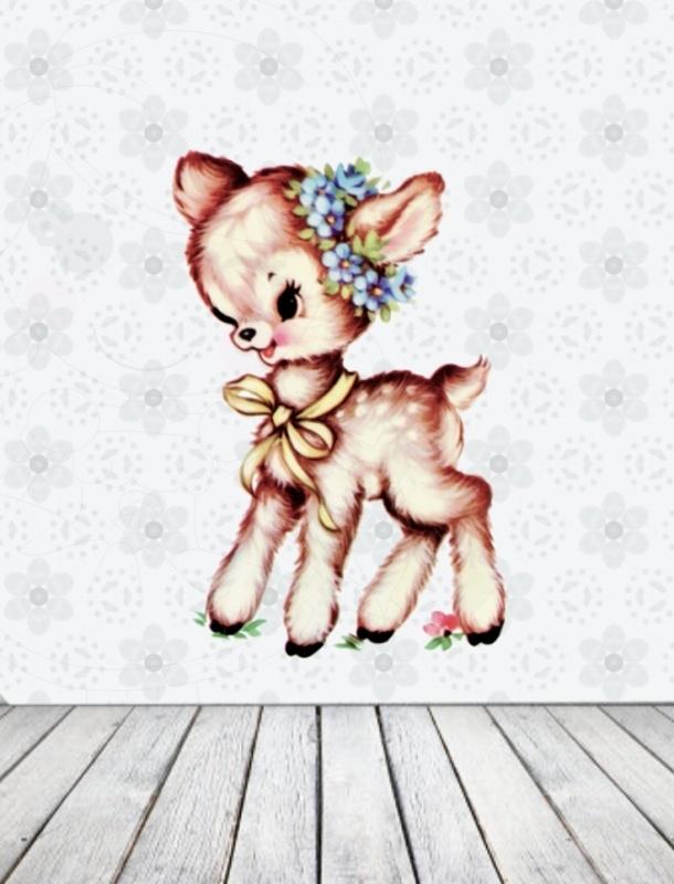Little Fawn- Muursticker