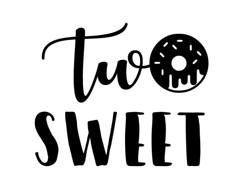 Strijkapplicatie Two Sweet