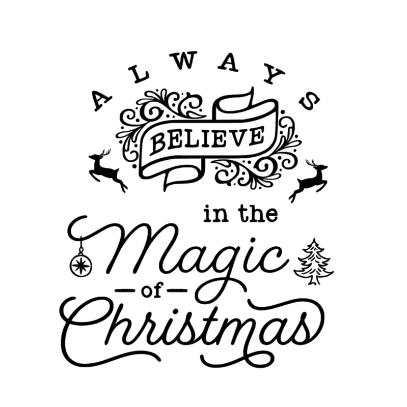 Raamsticker Magic Christmas
