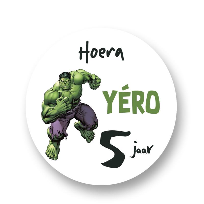 Sluitzegel -Traktatie sticker De Hulk