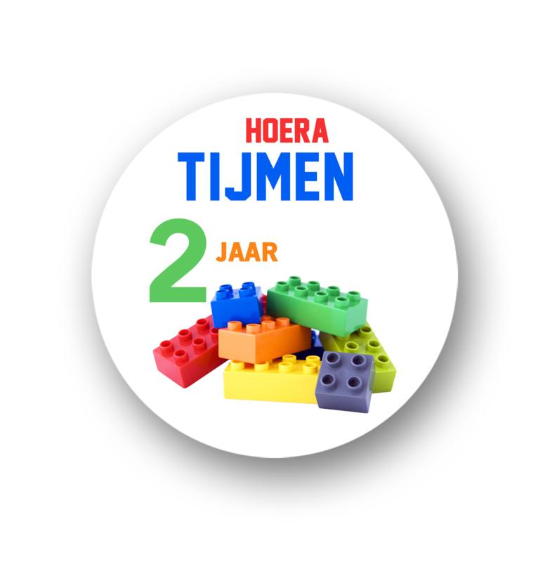 Sluitzegel -Traktatie sticker Lego