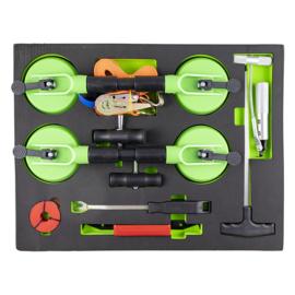 JBM Tools | Lade met een set aanzuigpomp en gereedschappen voor het verwijderen van wissers