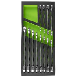 JBM Tools | SET VAN 12 SLEUTELS MET EEN RATEL IN EVA-LADE
