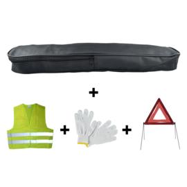JBM Tools | Emergency kit pvc tas + driehoek + vest + handschoenen