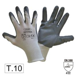 JBM Tools | PALM NITRILE COATED GLOVES T. 10