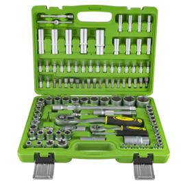 JBM Tools |  Gereedschapset | Gereedschapskoffer | Gevulde | Doppenset/Inbus (108 stuks)