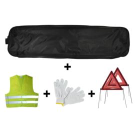 JBM Tools | Noodpakket zwarte zakrand + 2 driehoeken + vest + handschoenen