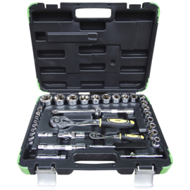 JBM Tools |Doppenset 35-Delig | 1/2 - 1/4 |