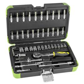JBM Tools |  Gereedschap Doppenset 46 Delig - 6 kanten boren