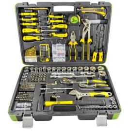 JBM Tools | Gereedschapskoffer 303 Delig | Schroevendraaier, Stanleymes, Waterpomptang, Ratel, Hamer etc.. |