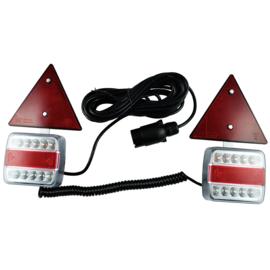 JBM Tools | Set van 2 signaal indicatoren aan magneten, 2 reflectoren, 7 м platte kabel en 2,5 m spiraalkabel
