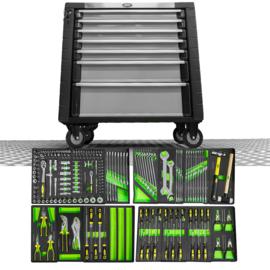JBM Tools   GEREEDSCHAPSWAGEN MET OMVALBEVEILIGING SYSTEEM, XL-GRIJS