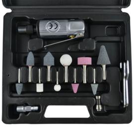 JBM Tools | Pneumatische polijstmachine set. 16-delig