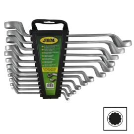 JBM Tools | SET VAN 12 GEBOGE RINGSLEUTELS