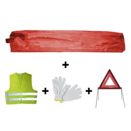 JBM Tools | Mini rode tas noodkit + driehoek + vest + handschoenen
