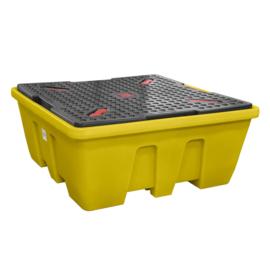 Pallet met een container voor vaten